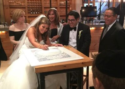 Wedding of Courtney Behar and Andrew Kaplan - Signed, Sealed, and Delivered