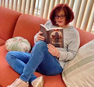 Robin Sweeney Reading Lynnda's Book